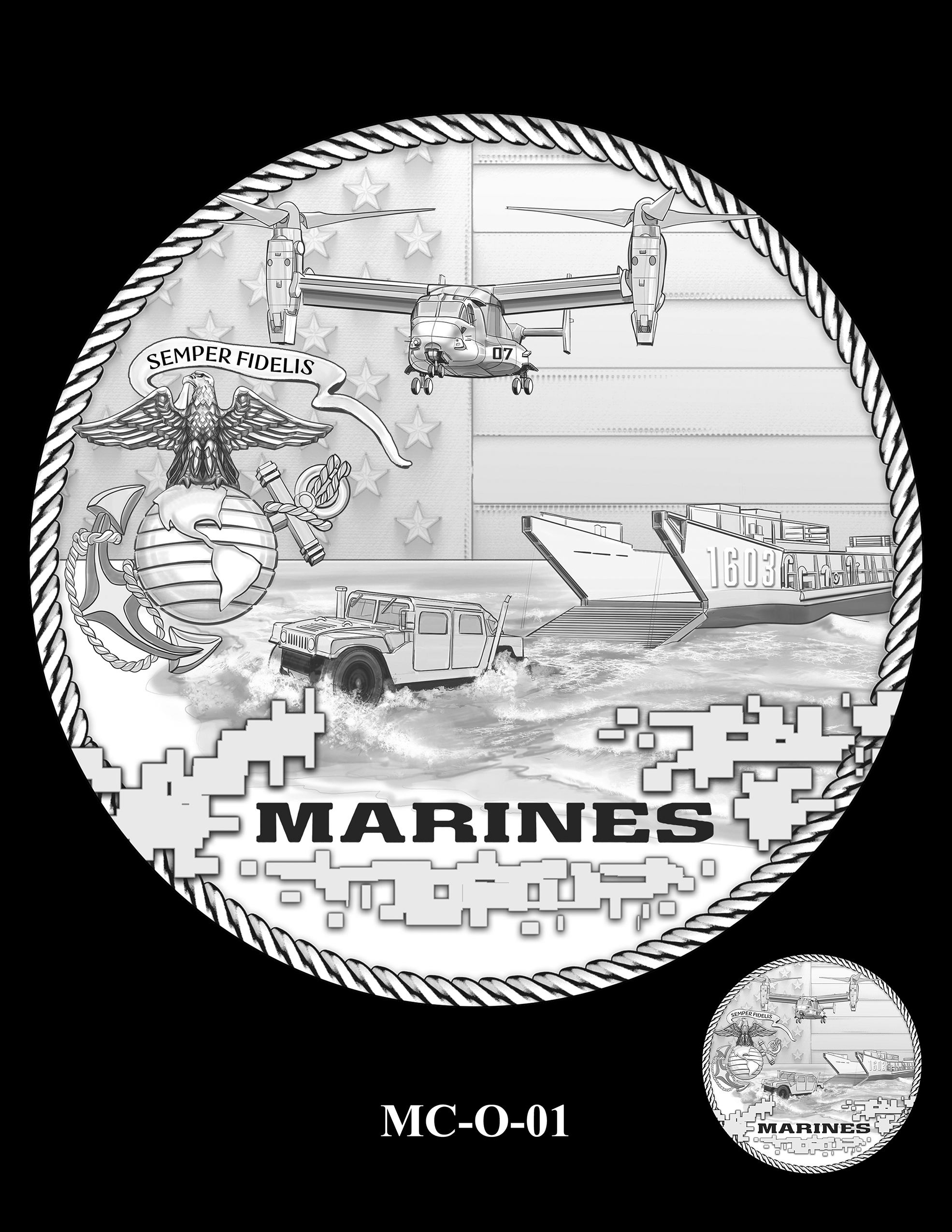 MC-O-01 -- United States Marine Corps Silver Medal