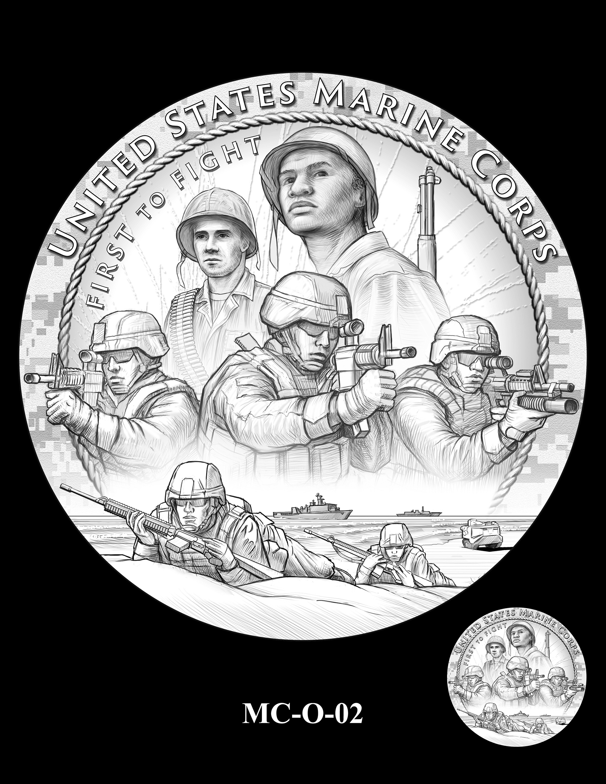 MC-O-02 -- United States Marine Corps Silver Medal