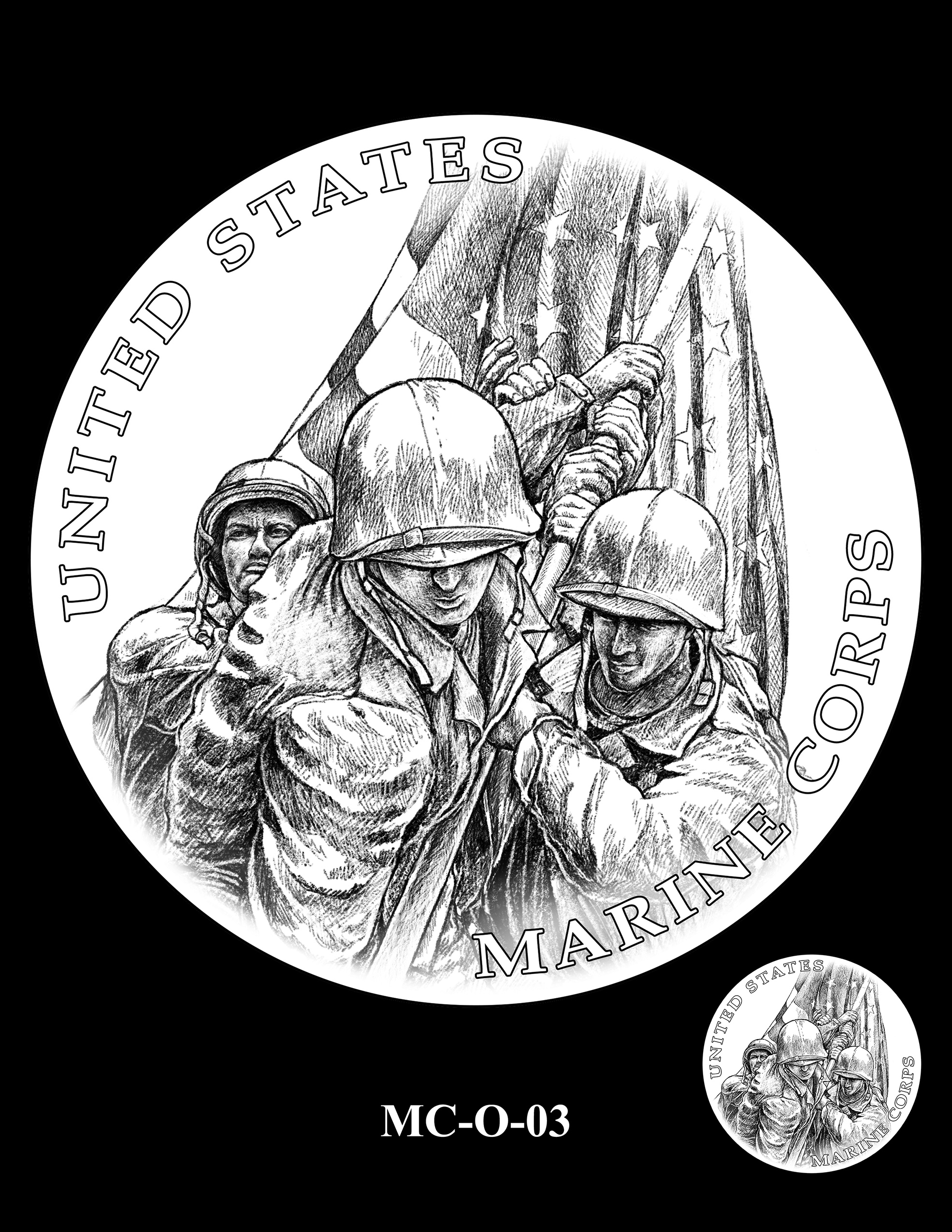 MC-O-03 -- United States Marine Corps Silver Medal