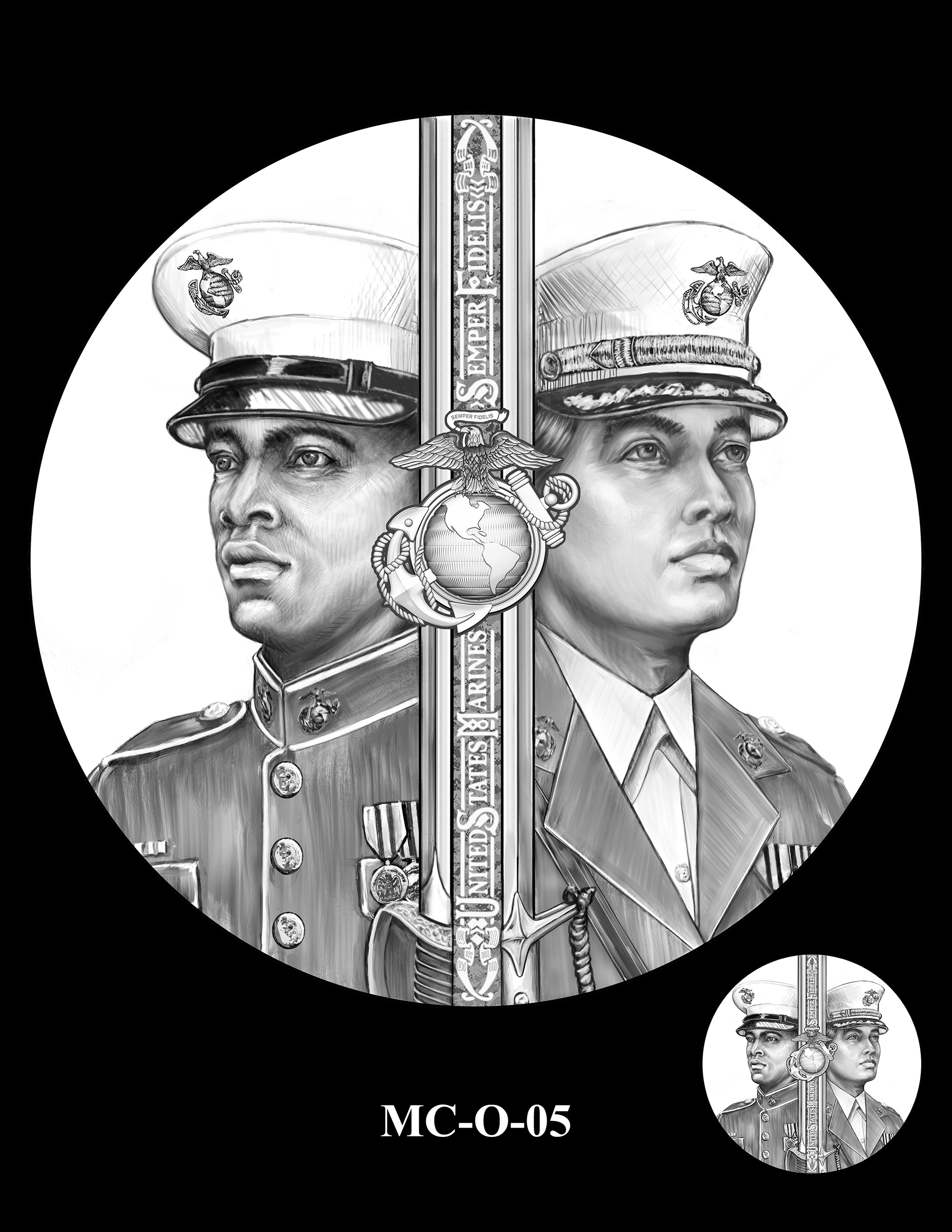 MC-O-05 -- United States Marine Corps Silver Medal