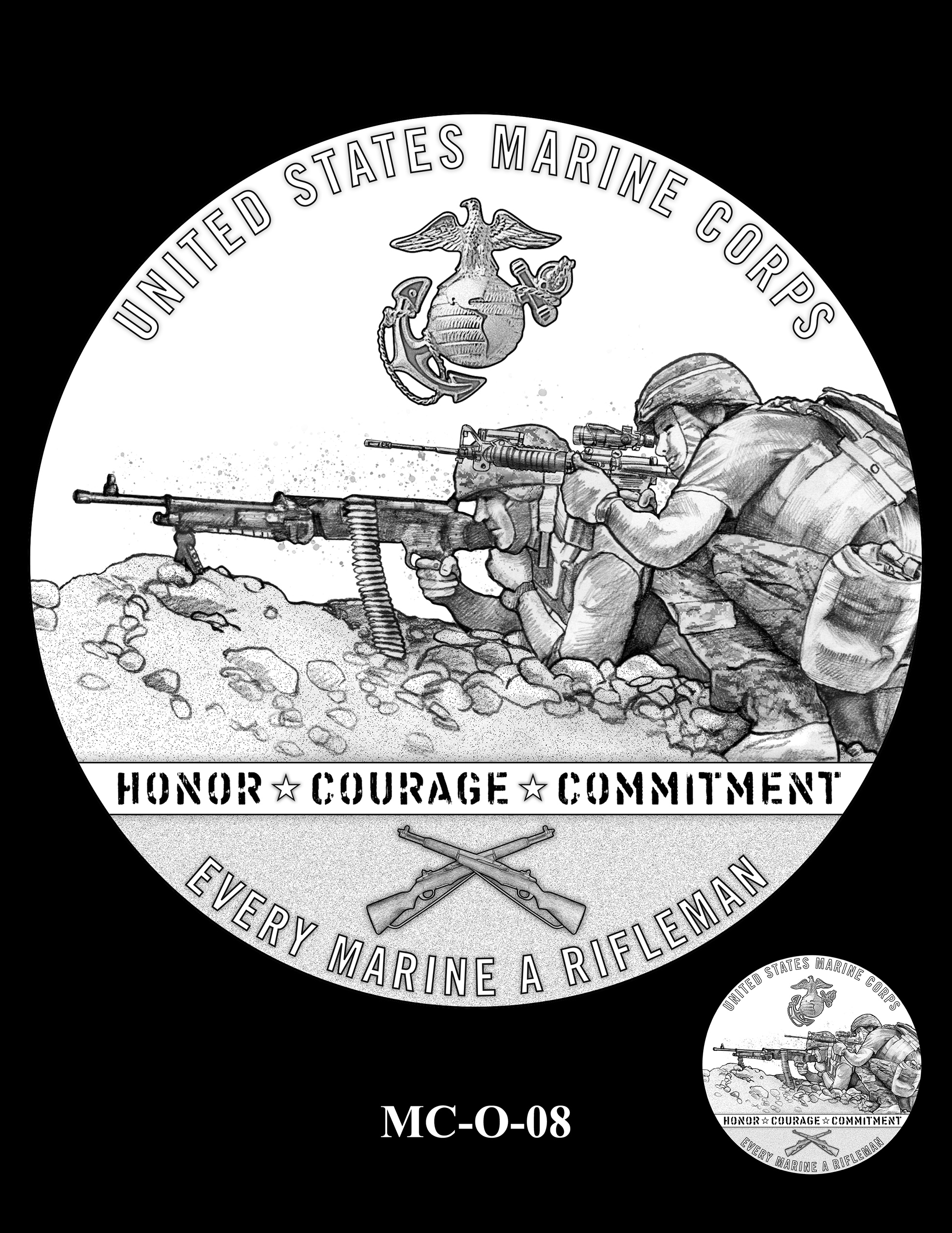 MC-O-08 -- United States Marine Corps Silver Medal