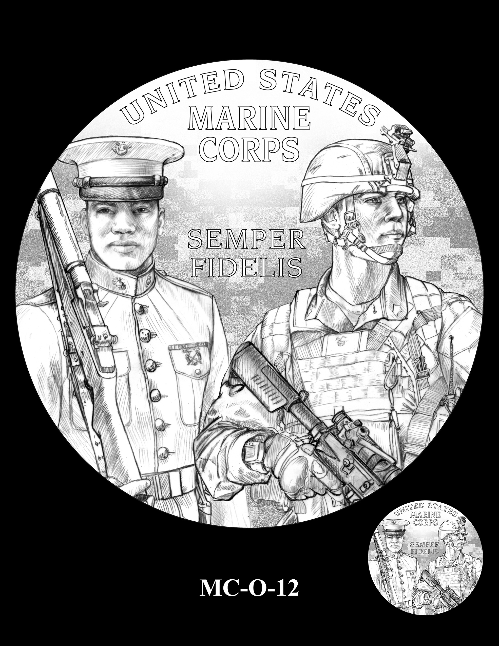 MC-O-12 -- United States Marine Corps Silver Medal