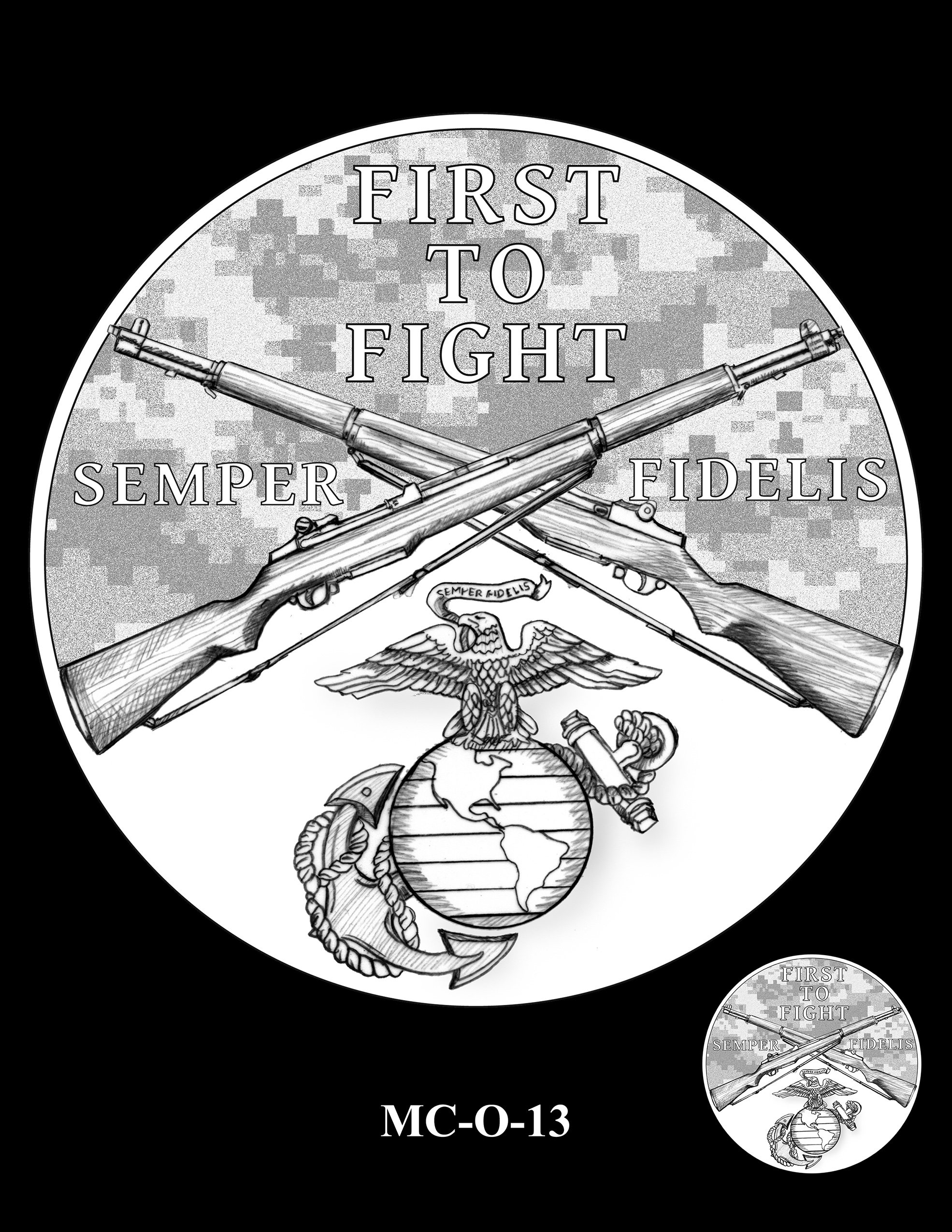 MC-O-13 -- United States Marine Corps Silver Medal