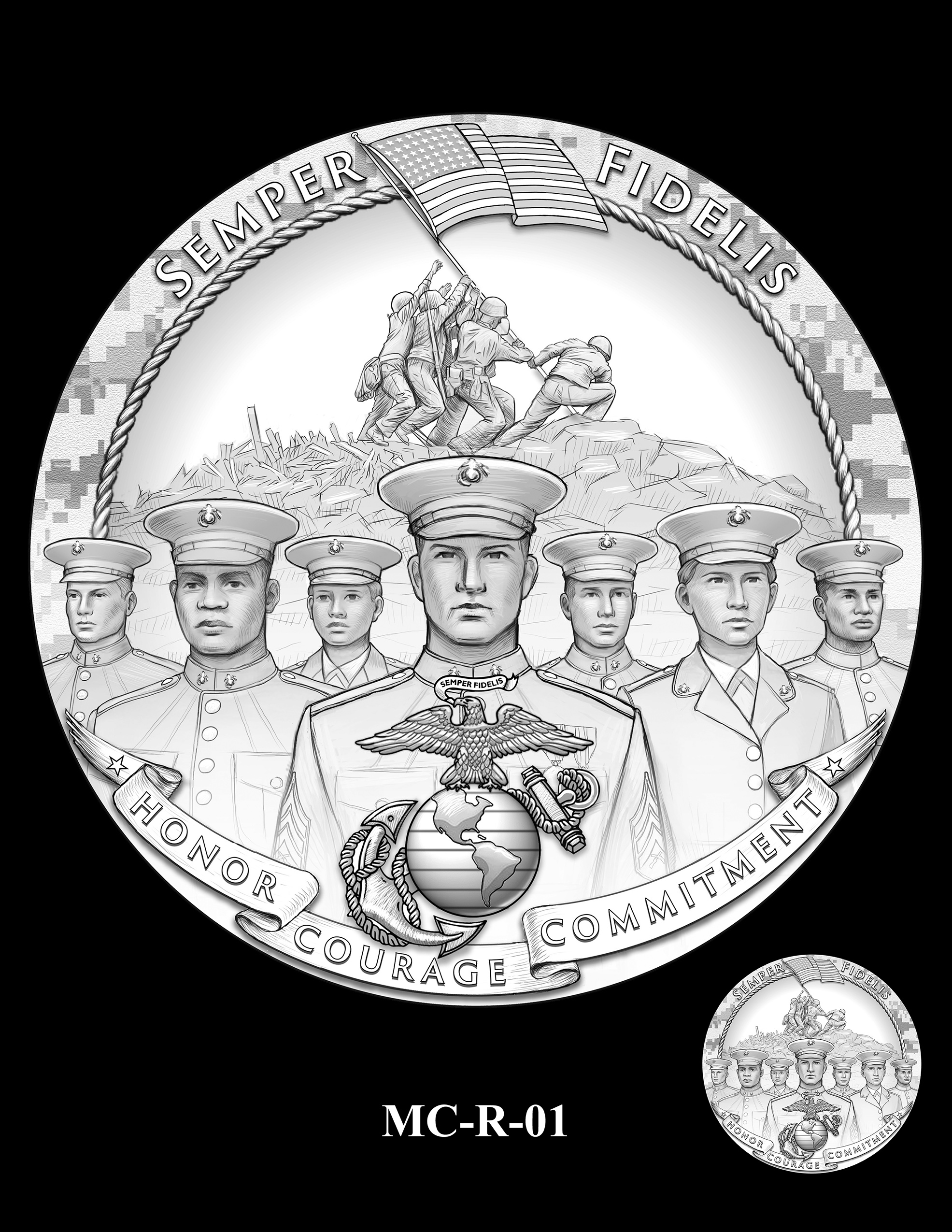 MC-R-01 -- United States Marine Corps Silver Medal