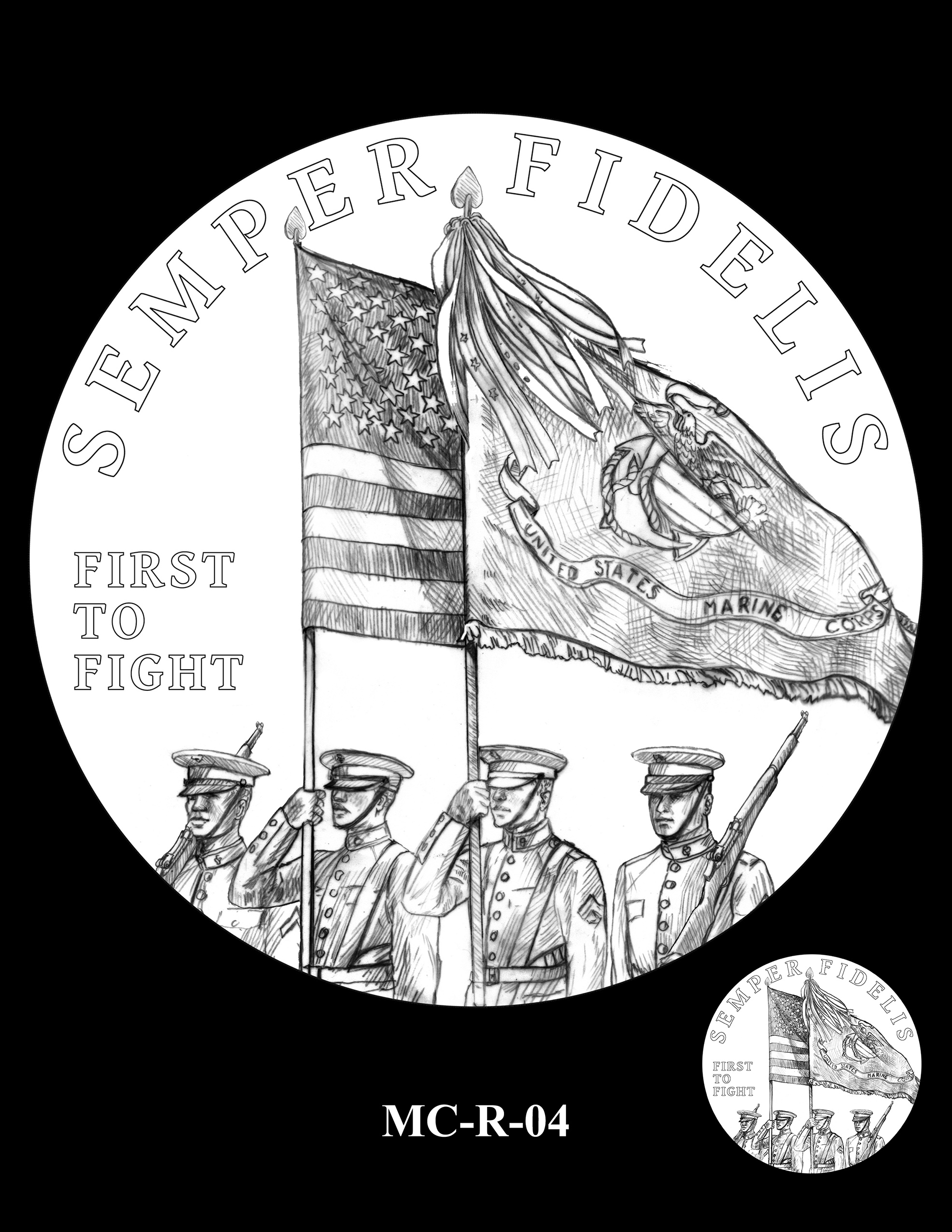 MC-R-04 -- United States Marine Corps Silver Medal