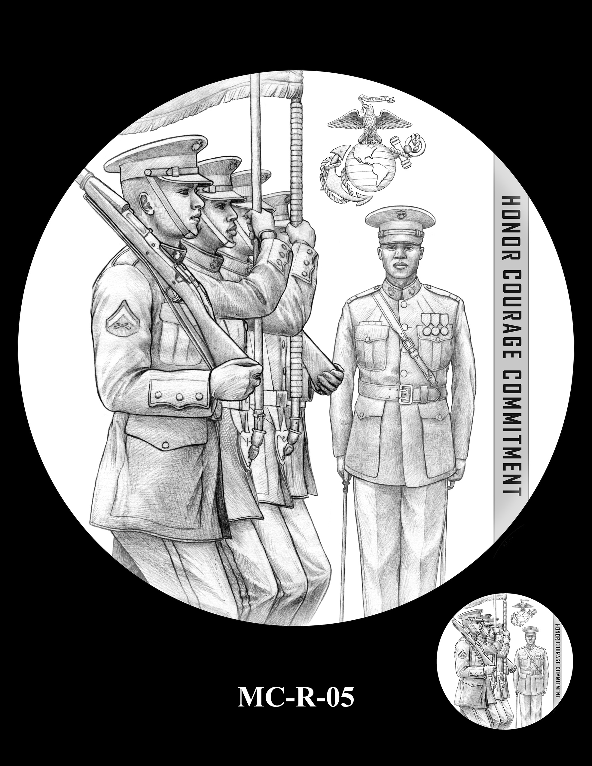 MC-R-05 -- United States Marine Corps Silver Medal
