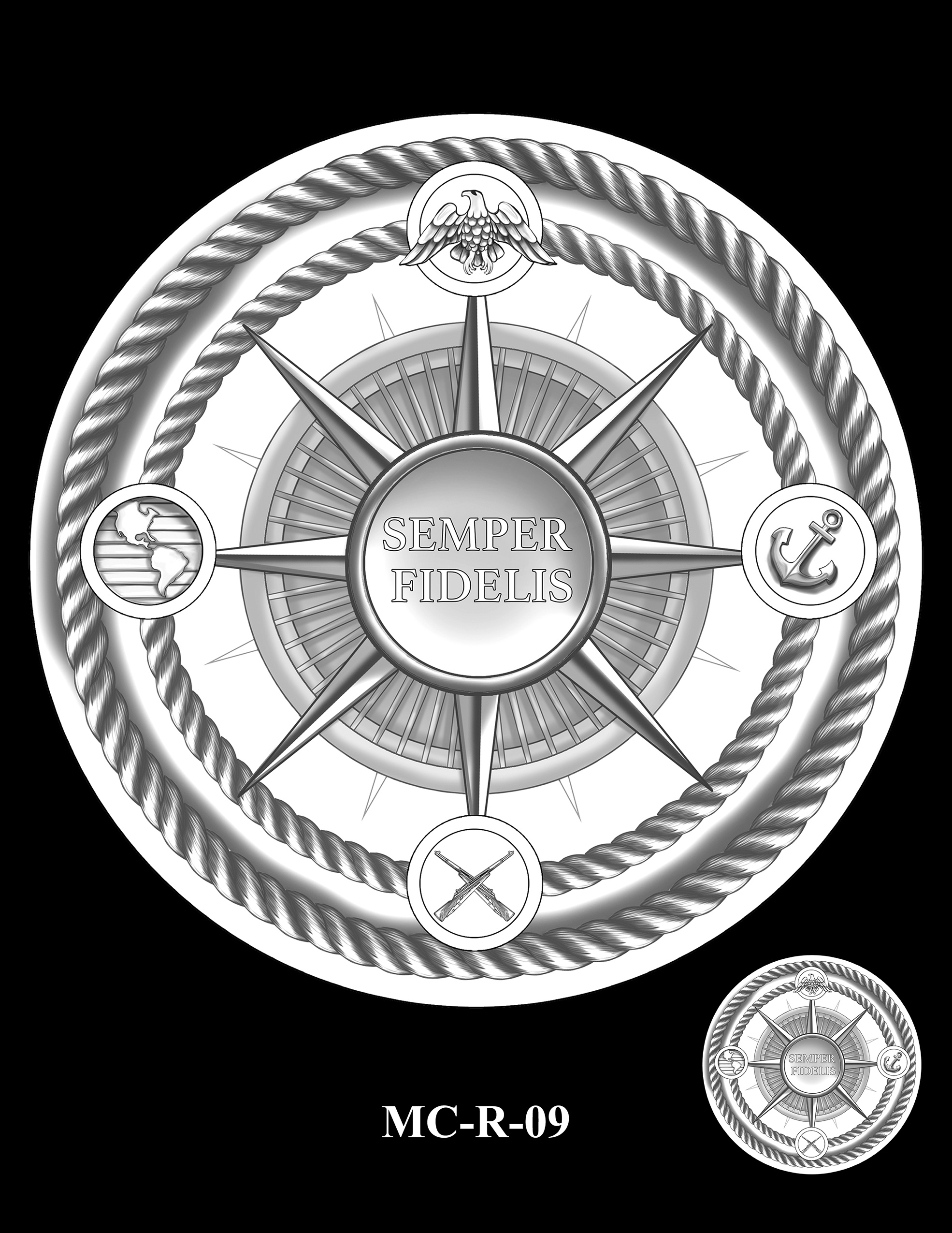 MC-R-09 -- United States Marine Corps Silver Medal