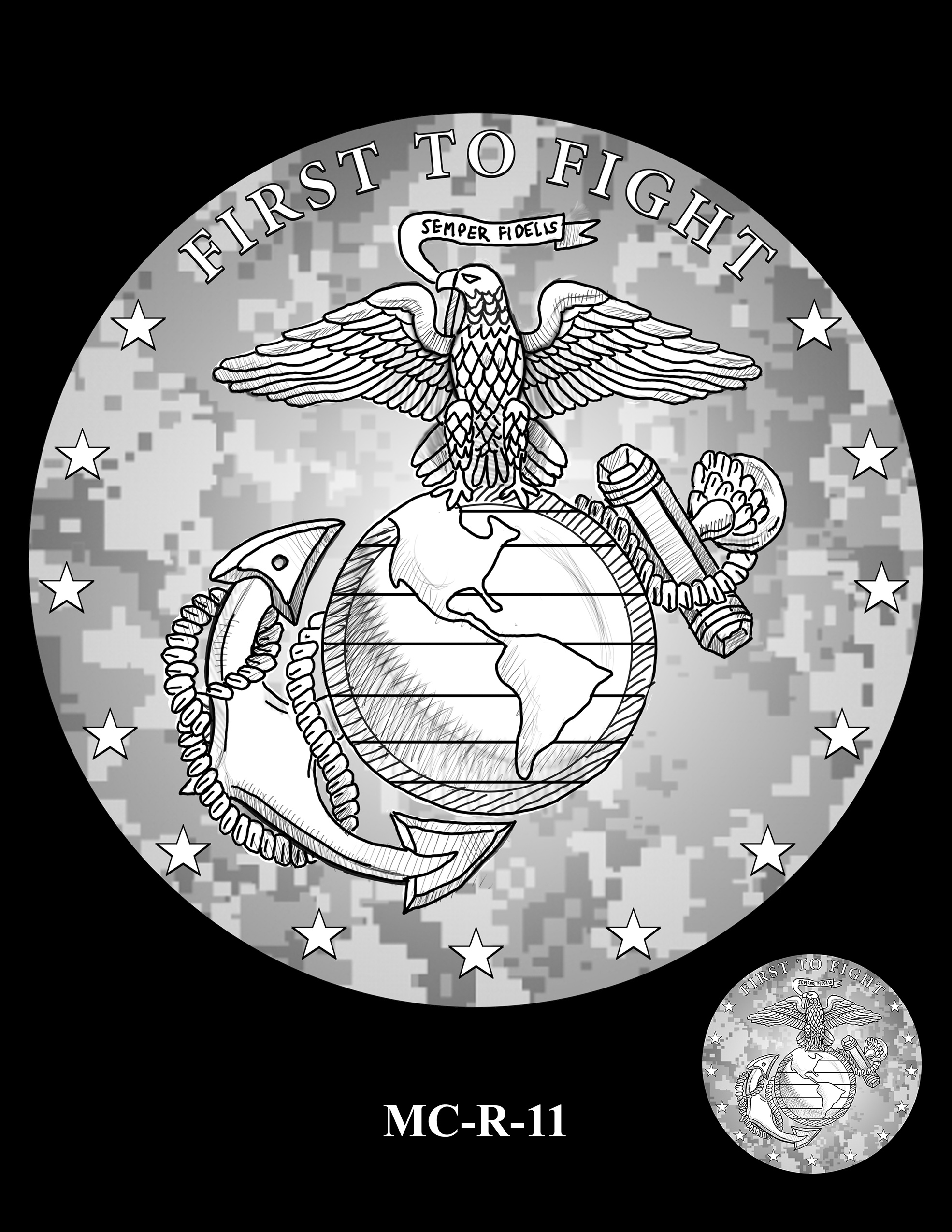 MC-R-11 -- United States Marine Corps Silver Medal