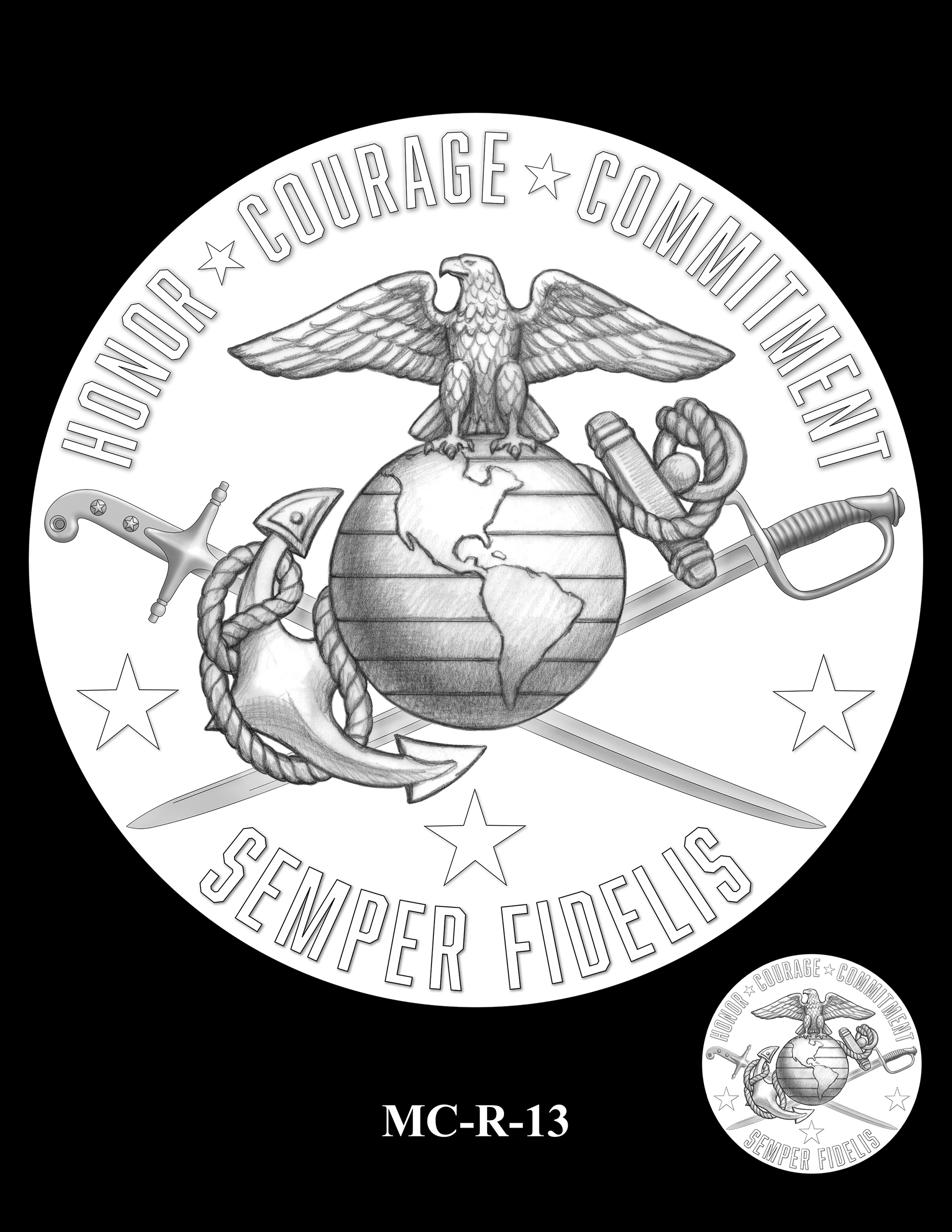 MC-R-13 -- United States Marine Corps Silver Medal