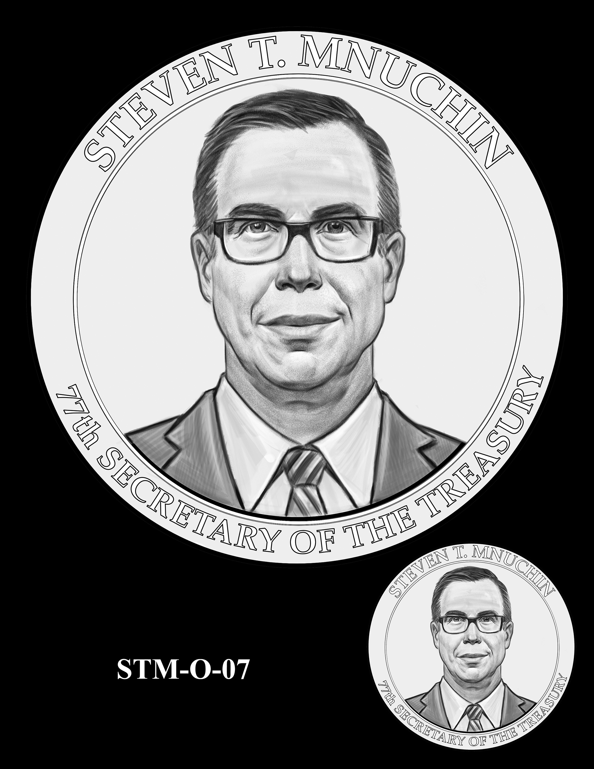 STM-O-07 -- Steven T. Mnuchin Secretary of the Treasury Medal