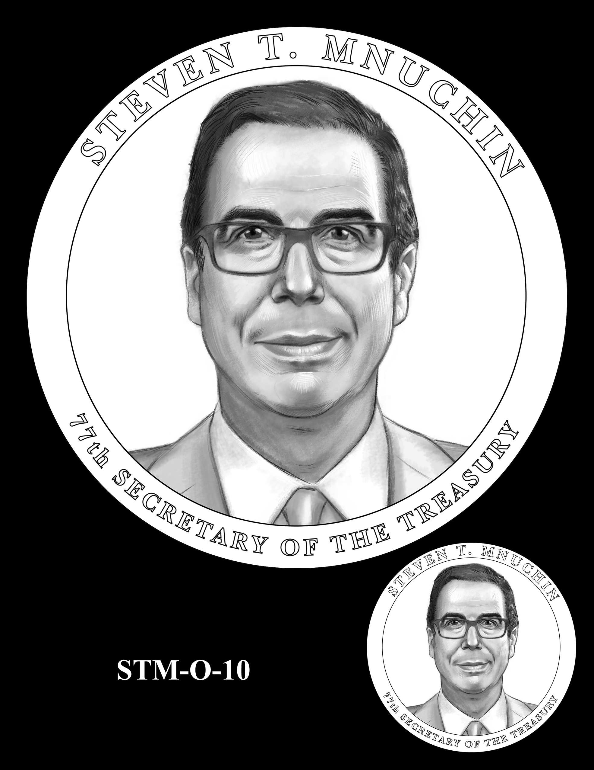 STM-O-10 -- Steven T. Mnuchin Secretary of the Treasury Medal