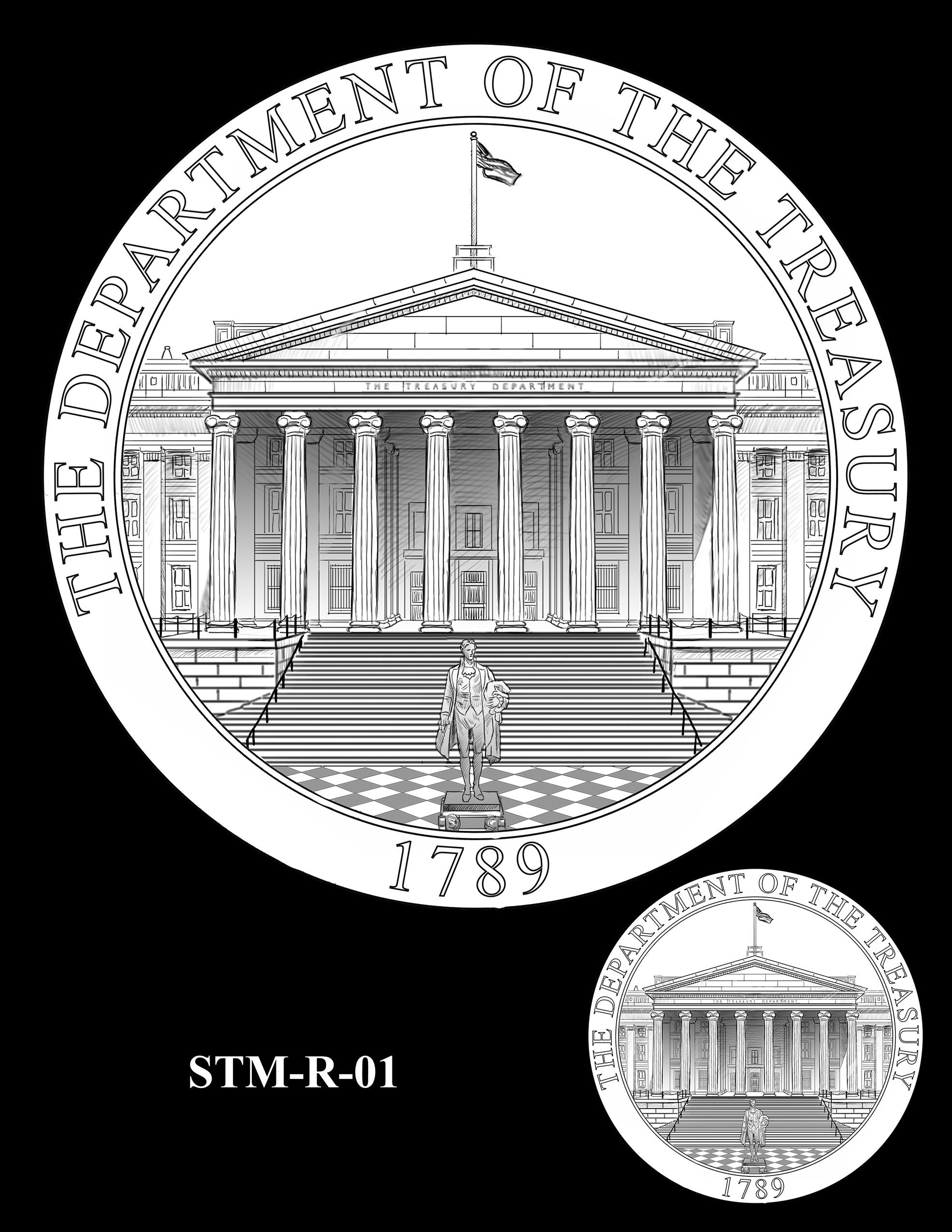 STM-R-01 -- Steven T. Mnuchin Secretary of the Treasury Medal
