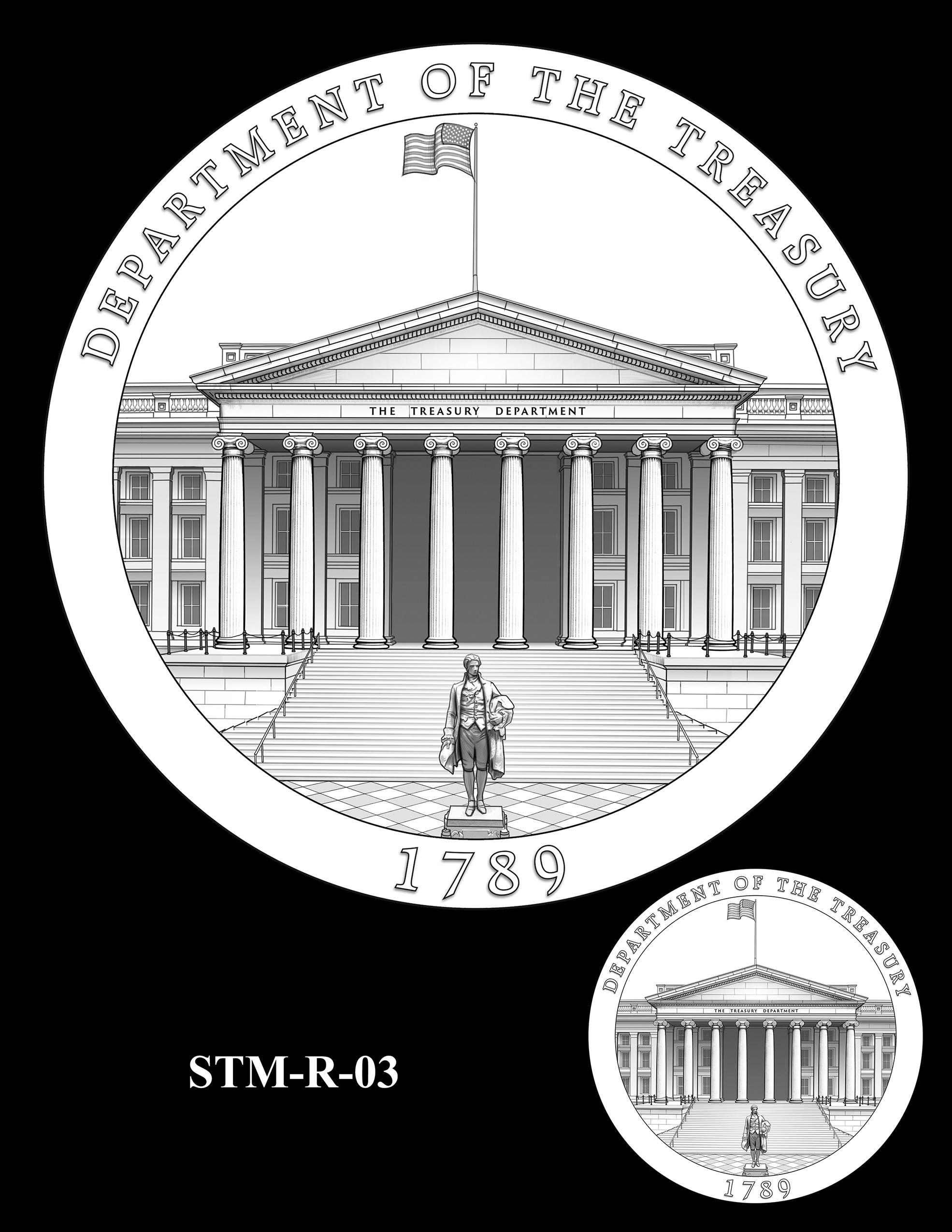 STM-R-03 -- Steven T. Mnuchin Secretary of the Treasury Medal