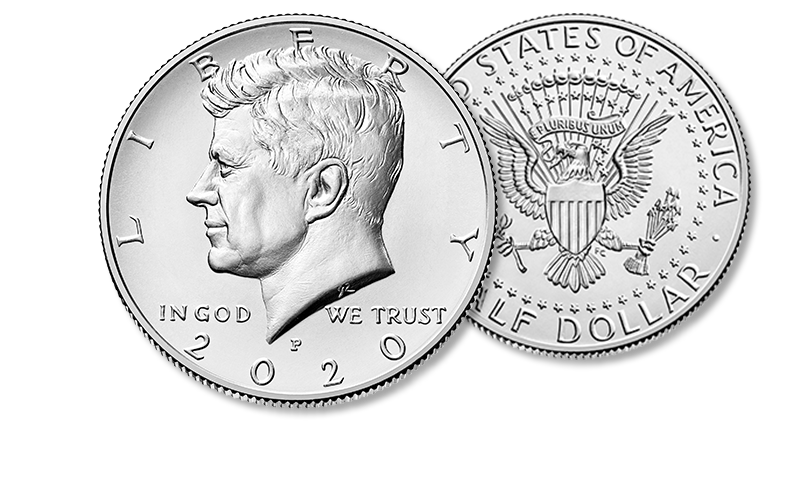 2020 Kennedy obverse and reverse homepage hero foreground