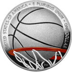 2020 Basketball Hall of Fame Commemorative Silver One Dollar Proof Colorized Reverse