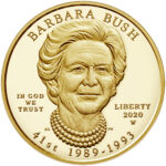 2020 First Spouse Gold Coin Barbara Bush Proof Obverse