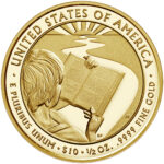 2020 First Spouse Gold Coin Barbara Bush Proof Reverse