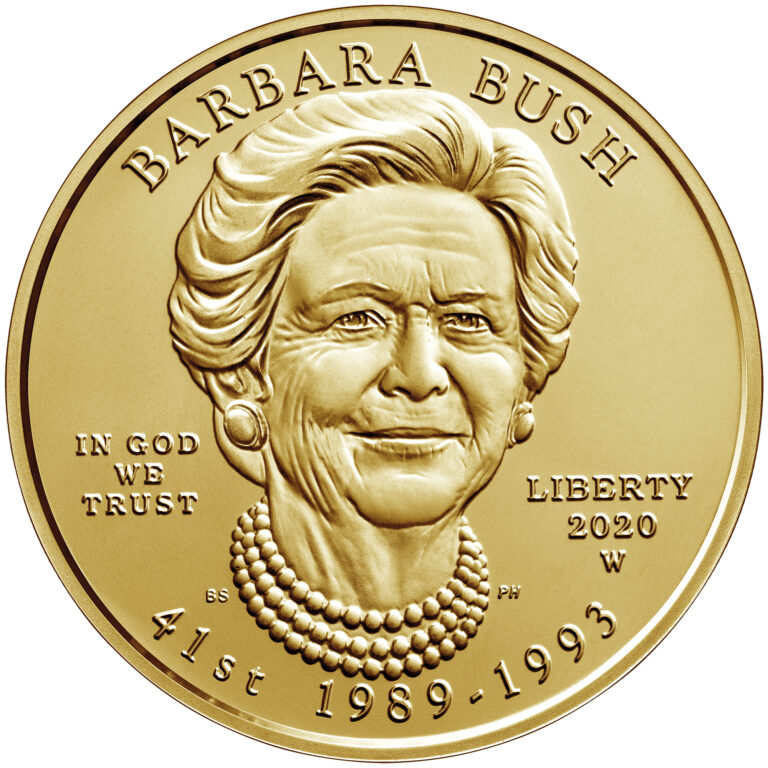 2020 First Spouse Gold Coin Barbara Bush Uncirculated Obverse