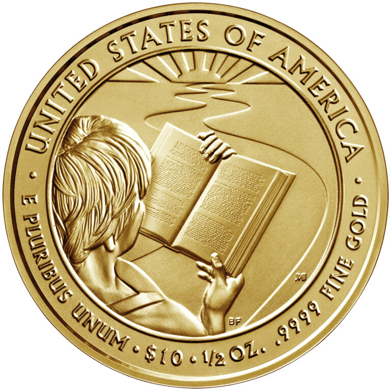 2020 First Spouse Gold Coin Barbara Bush Uncirculated Reverse