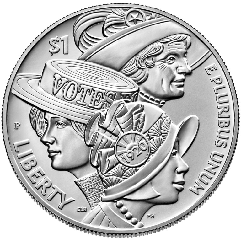 2020 Women's Suffrage Centennial Commemorative Silver Dollar Uncirculated Obverse