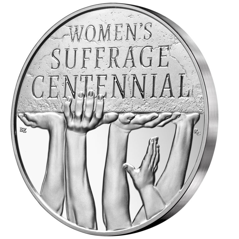 2020 Women's Suffrage Centennial Silver Medal Obverse Angle