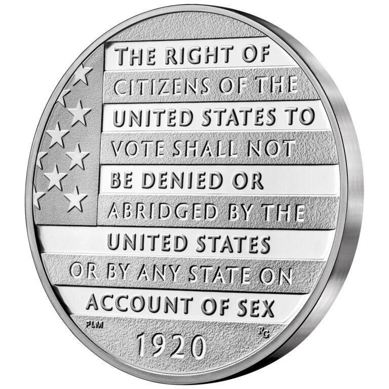 2020 Women's Suffrage Centennial Silver Medal Reverse Angle