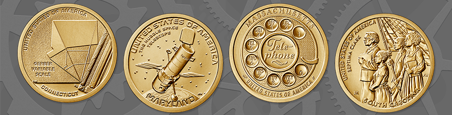 American Innovation 2020 coin designs kids homepage hero