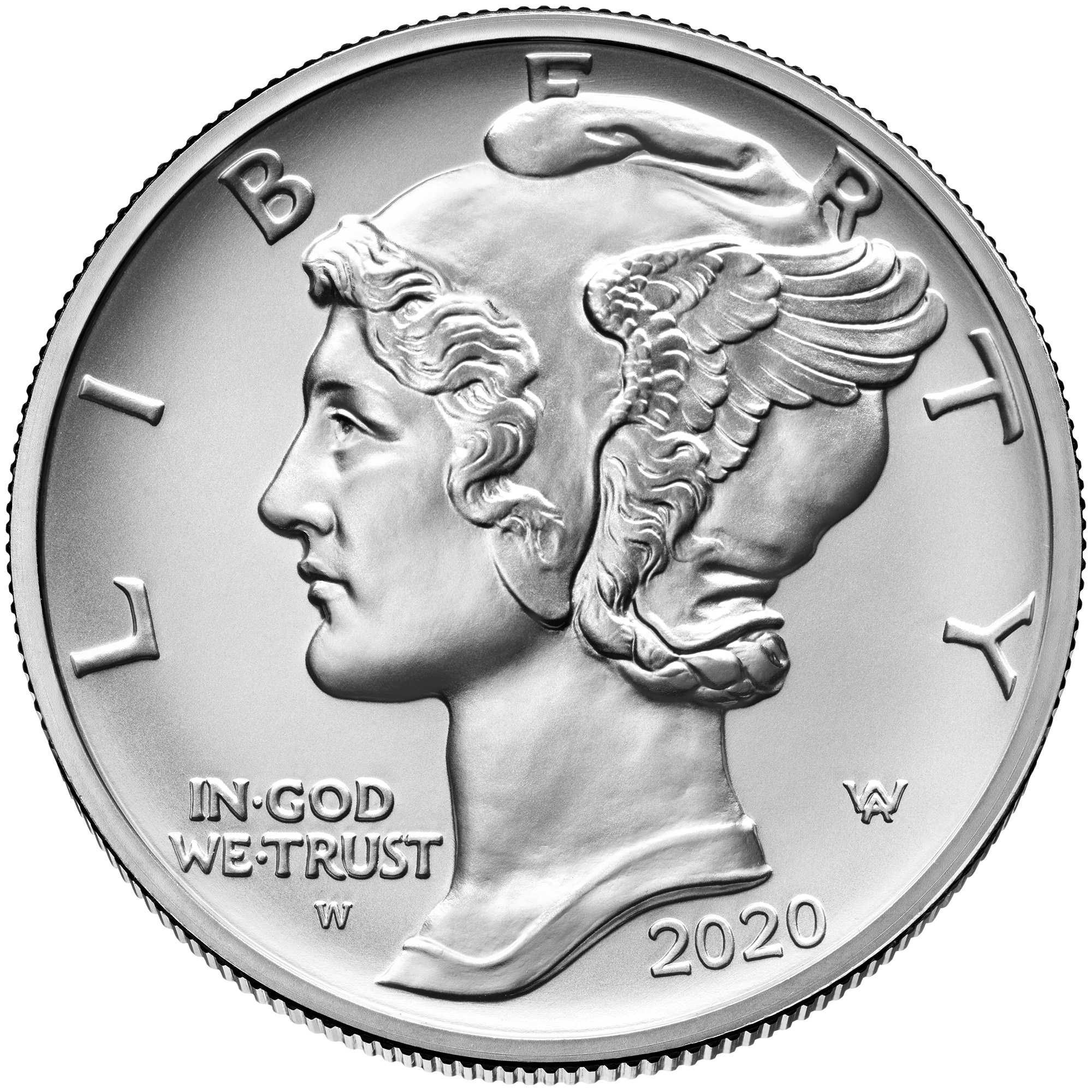 2020 American Eagle Palladium One Ounce Uncirculated Coin Obverse