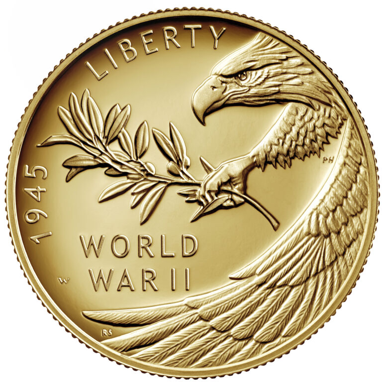 End of World War II Coin Obverse