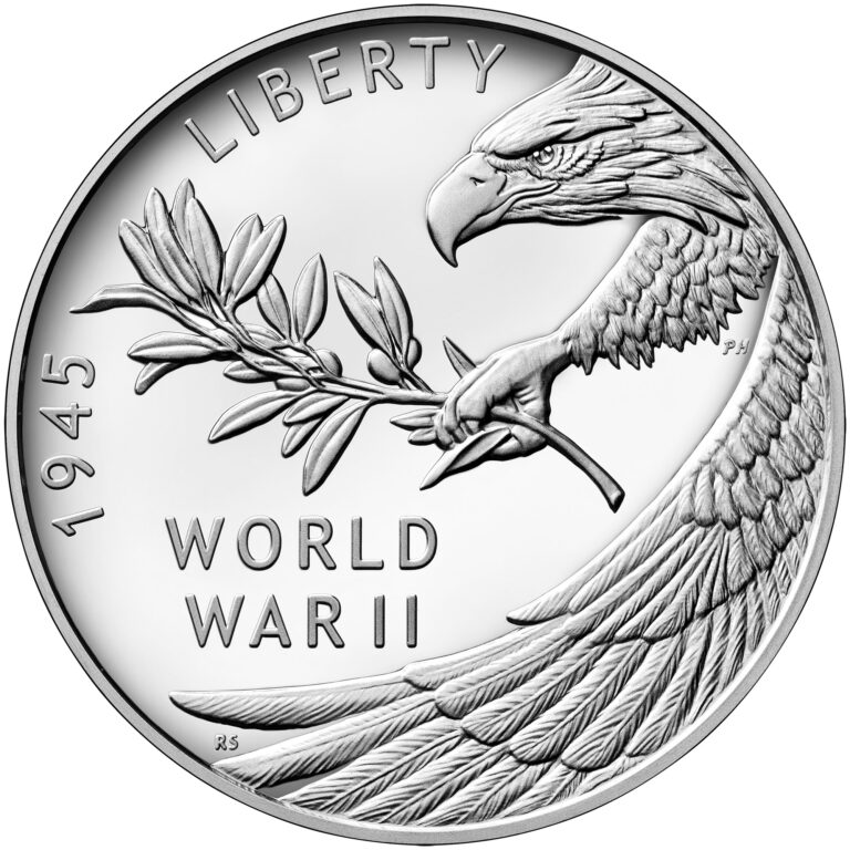 2020 End of World War II 75th Anniversary Silver Medal Obverse
