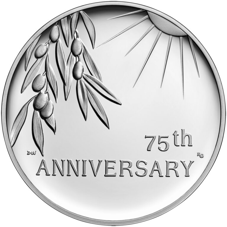 2020 End of World War II 75th Anniversary Silver Medal Reverse