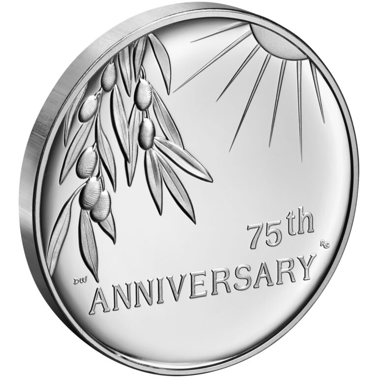 2020 End of World War II 75th Anniversary Silver Medal Reverse Angle