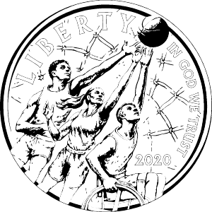 basketball commemorative coin obverse coloring page icon
