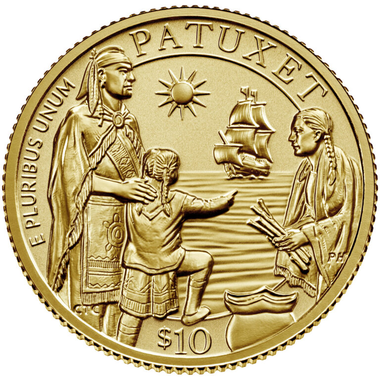 2020 Mayflower 400th Anniversary Gold Reverse Proof Coin Obverse
