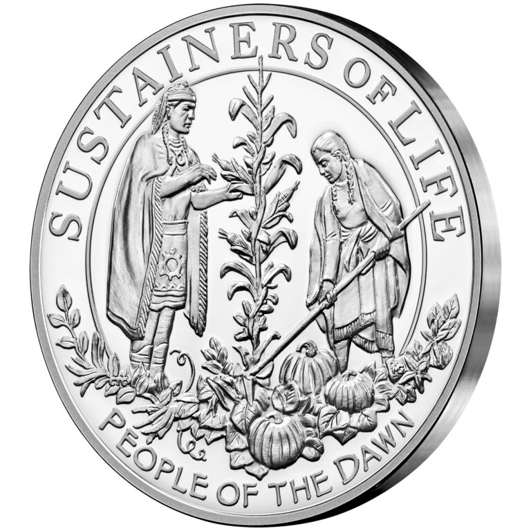 2020 Mayflower 400th Anniversary Silver Proof Medal Reverse Angle