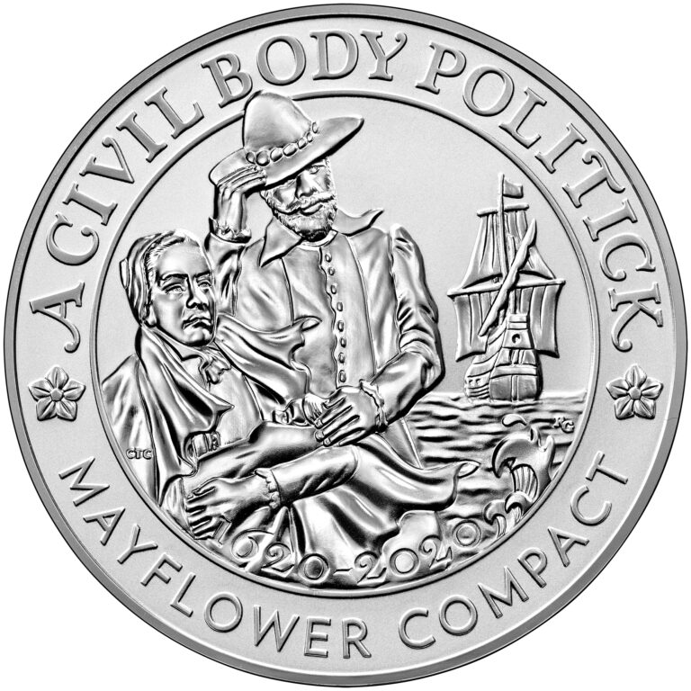 2020 Mayflower 400th Anniversary Silver Reverse Proof Medal Obverse
