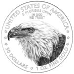2021 American Eagle Gold Coin Line Art Reverse