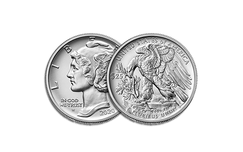 american eagle palladium uncirculated obverse and reverse