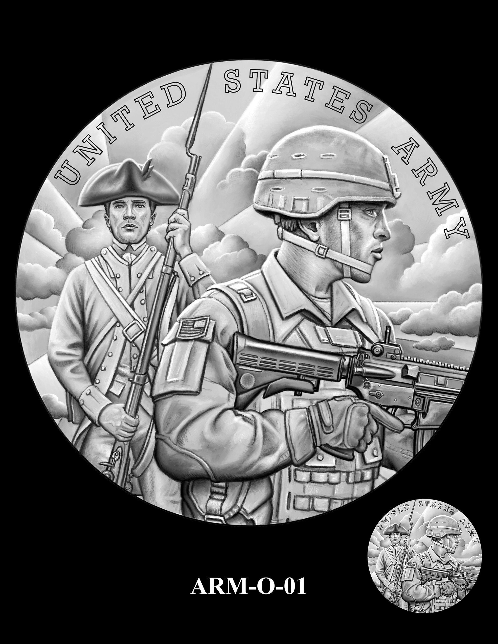 ARM-O-01 -- United States Army Silver Medal
