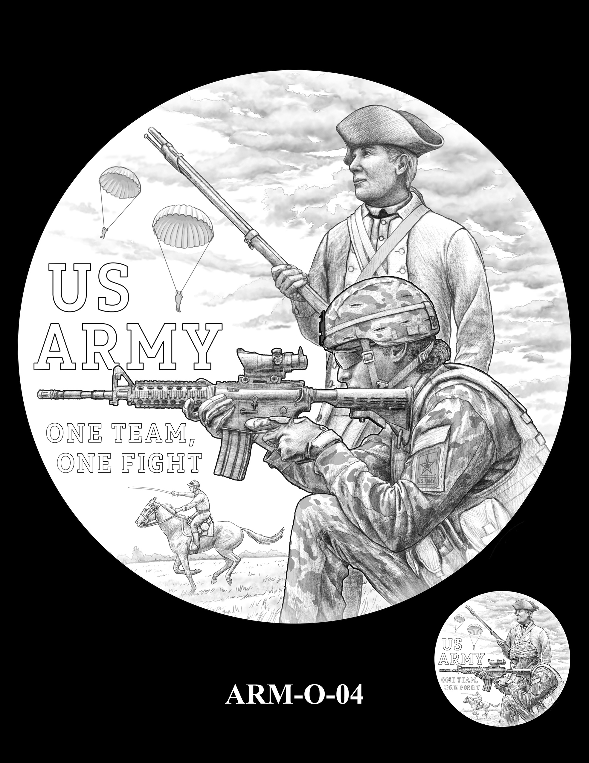 ARM-O-04 -- United States Army Silver Medal