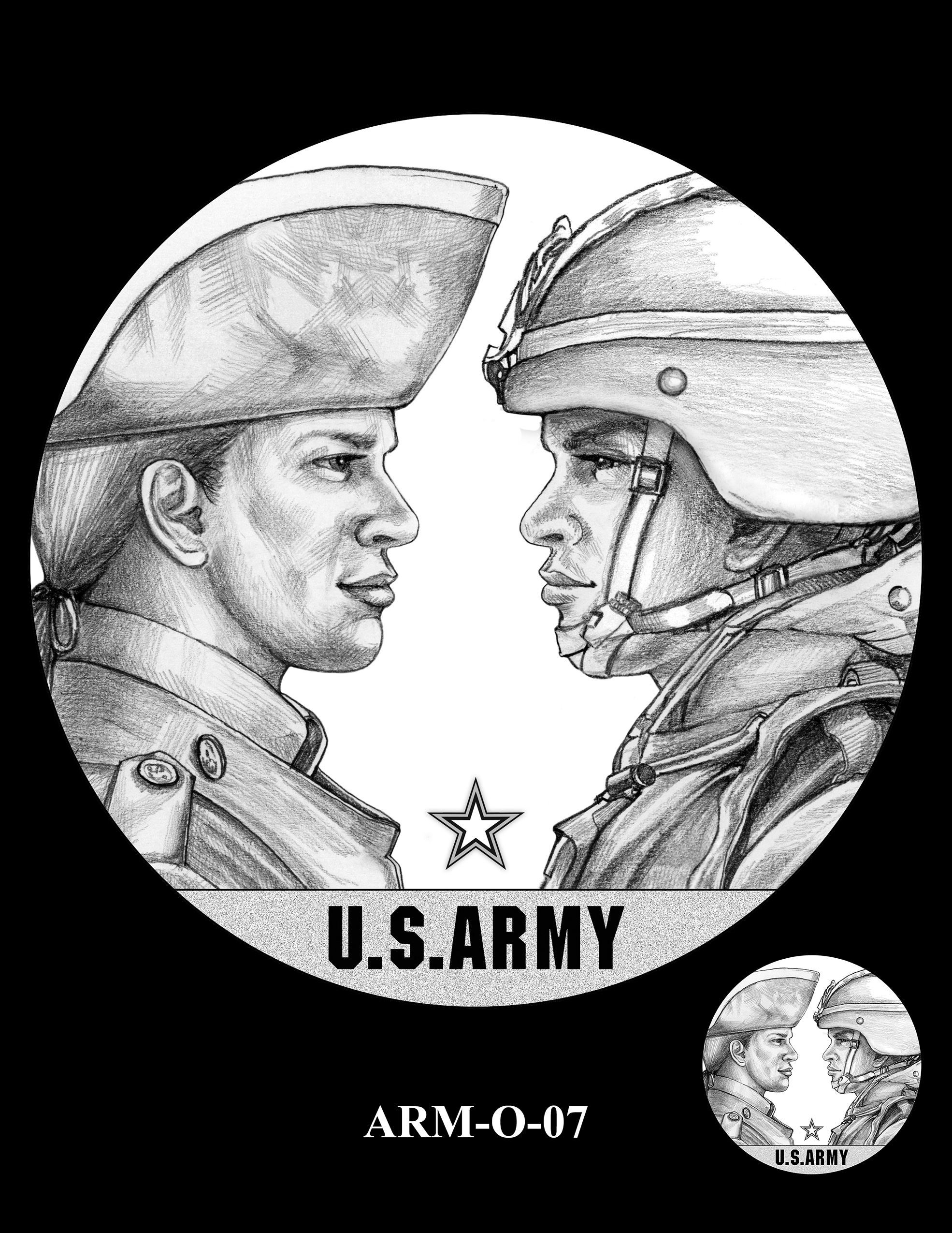 ARM-O-07 -- United States Army Silver Medal