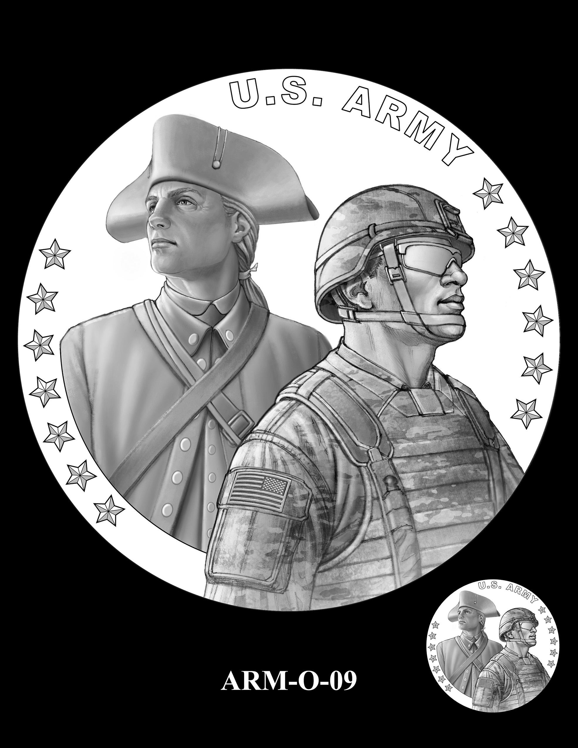 ARM-O-09 -- United States Army Silver Medal