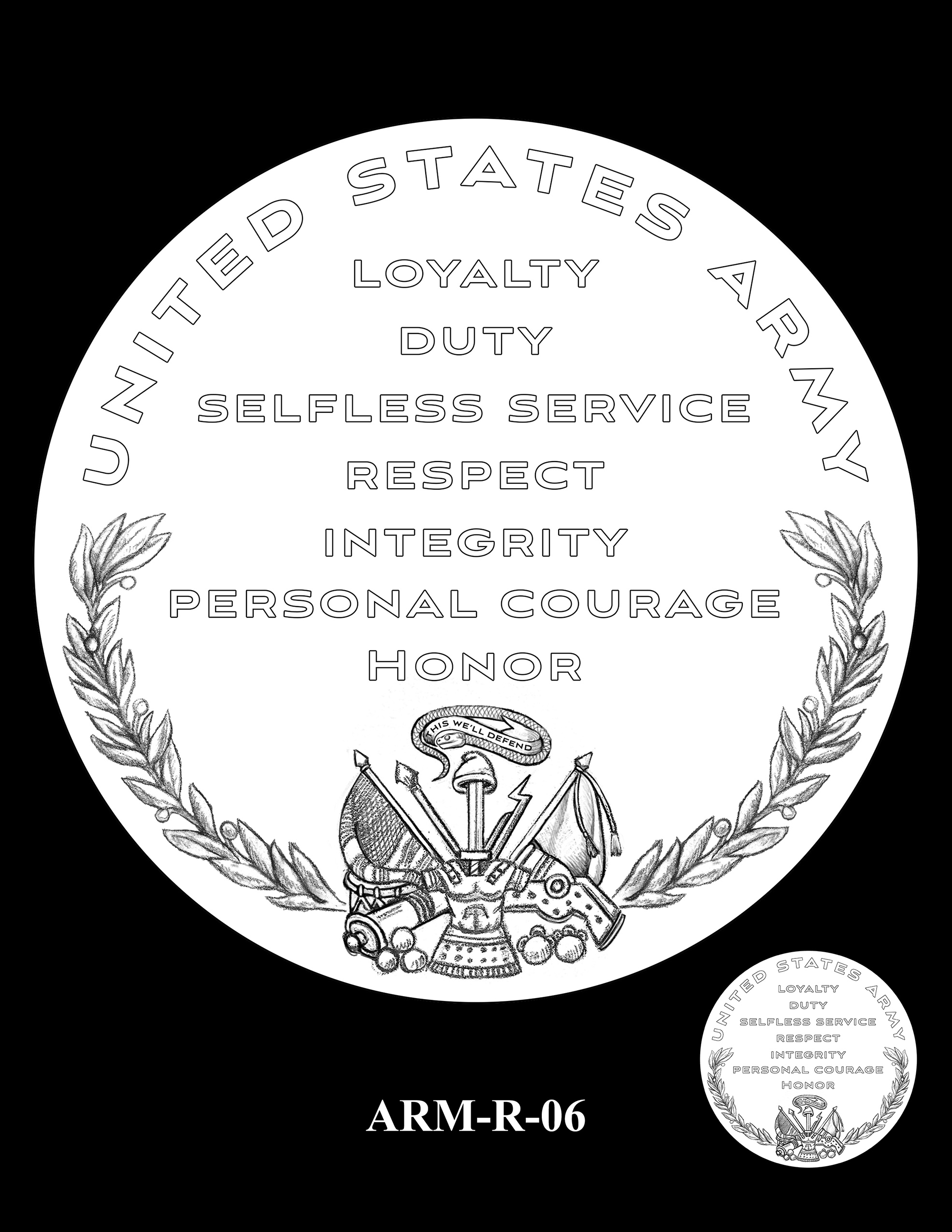 ARM-R-06 -- United States Army Silver Medal