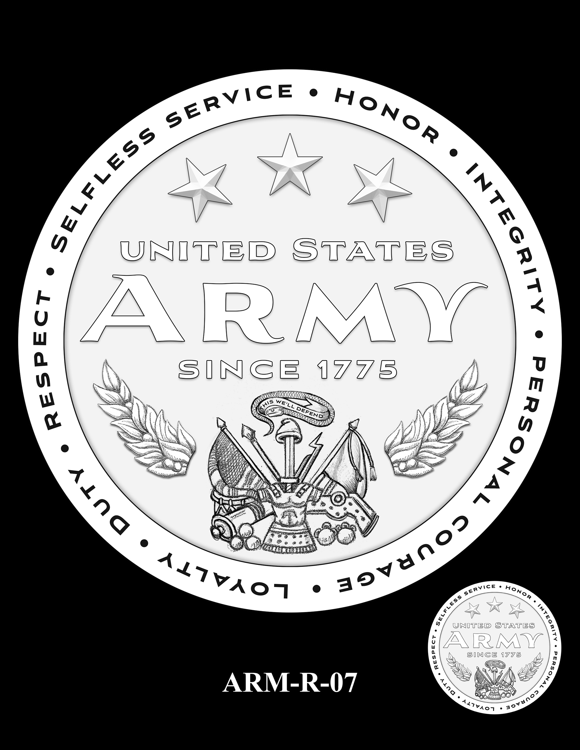ARM-R-07 -- United States Army Silver Medal