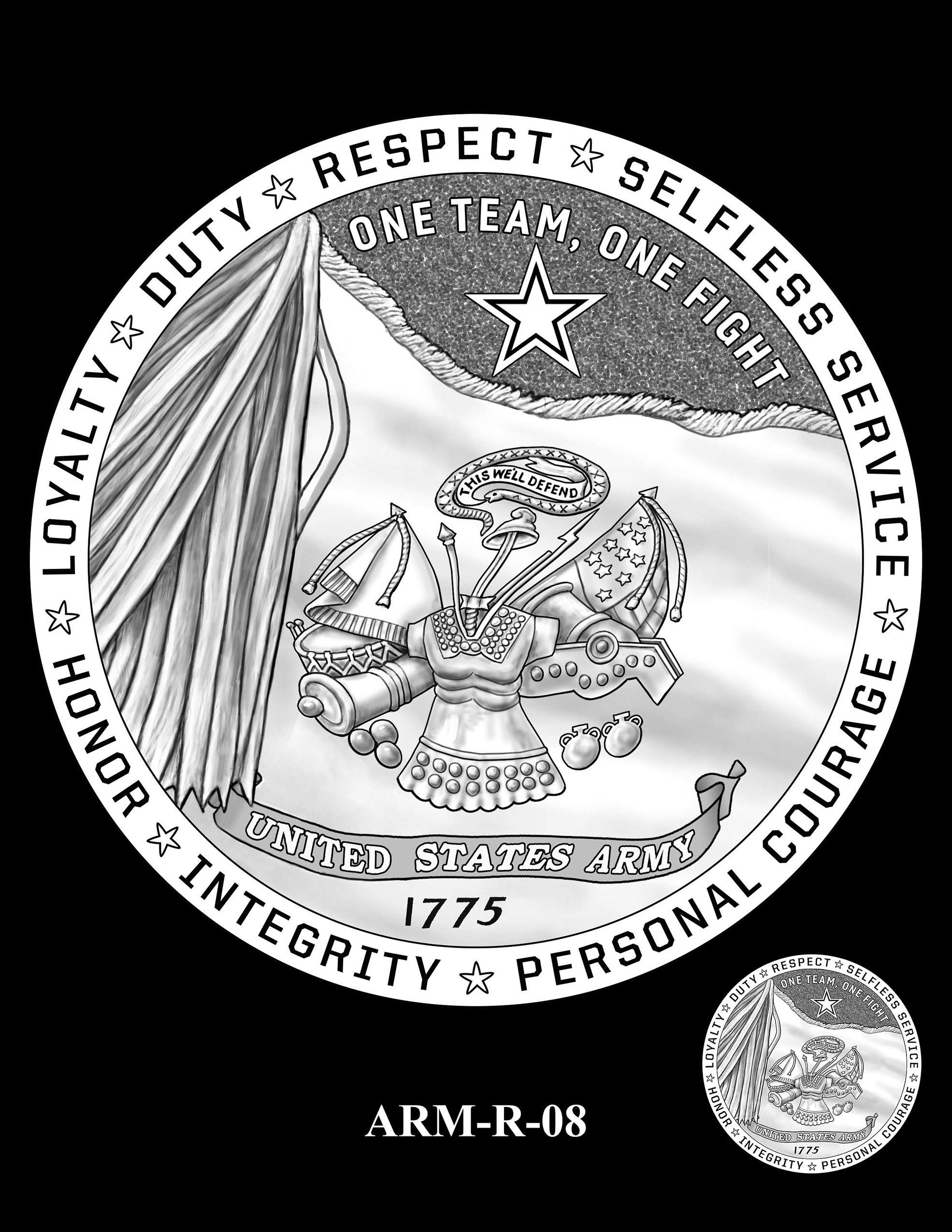 ARM-R-08 -- United States Army Silver Medal