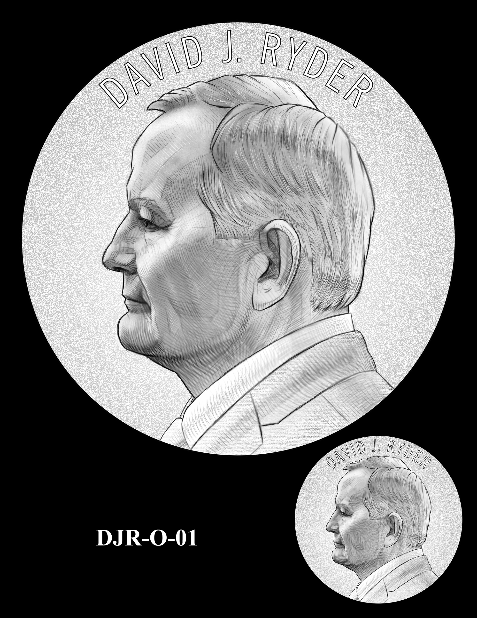 DJR-O-01 -- David J. Ryder Director of the Mint Medal