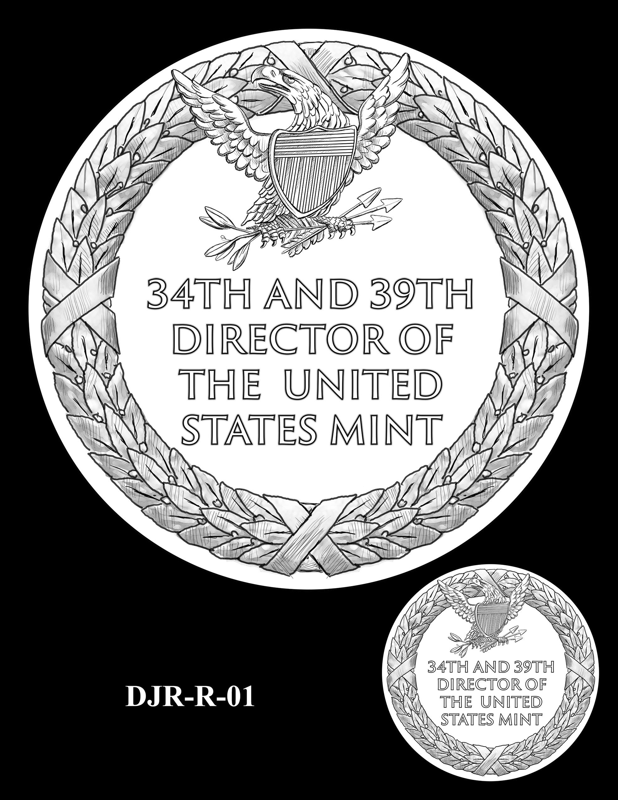 DJR-R-01 -- David J. Ryder Director of the Mint Medal