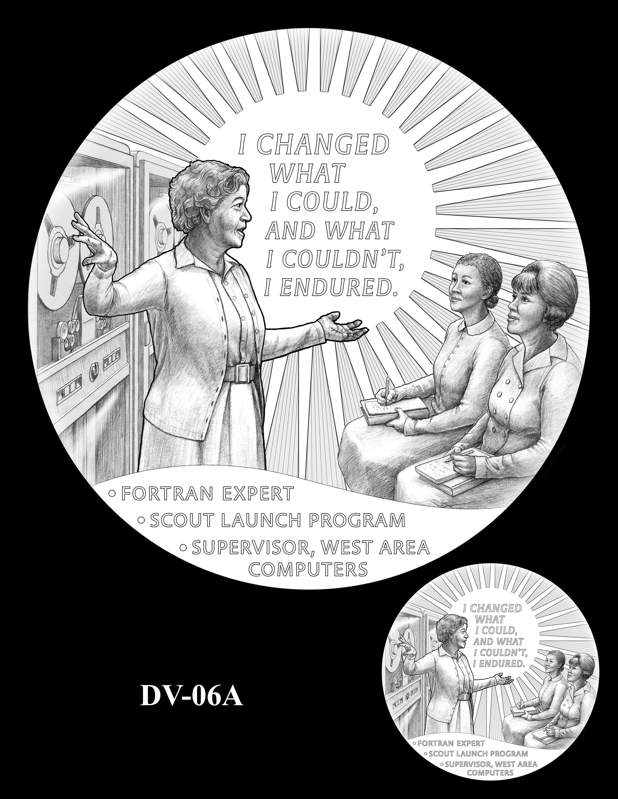 DV-R-06A -- Dorothy J. Vaughan Congressional Gold Medal