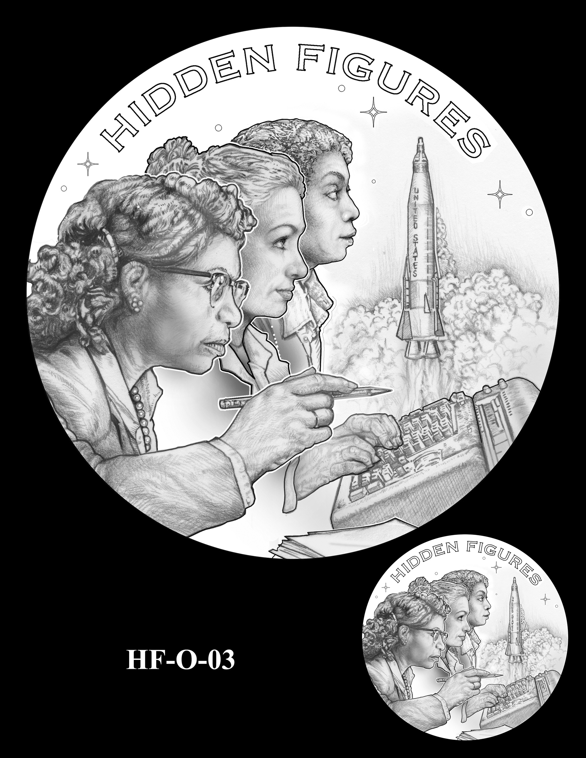 HF-O-03 -- Hidden Figures Group Congressional Gold Medal