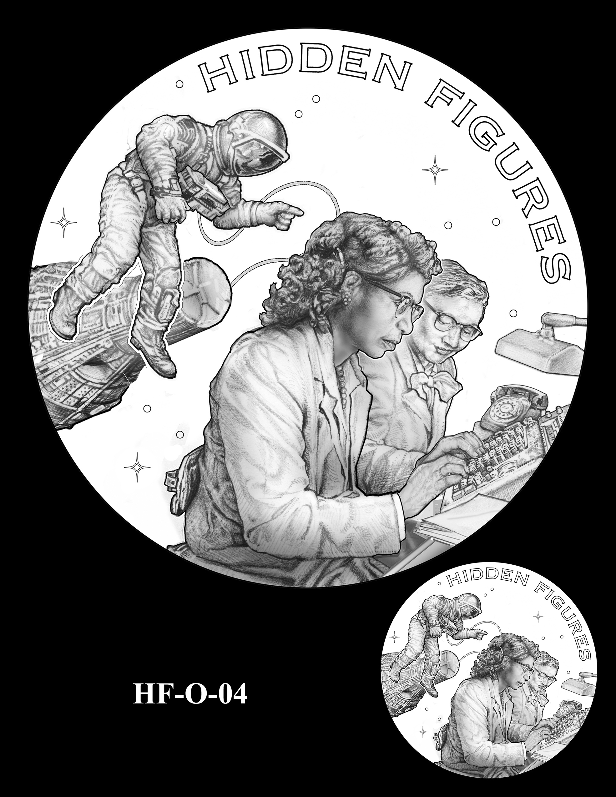 HF-O-04 -- Hidden Figures Group Congressional Gold Medal